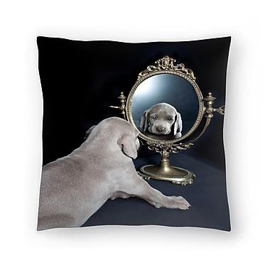 East Urban Home Maja Hrnjak Weimaraner Puppy Throw Pillow; 16'' x 16''