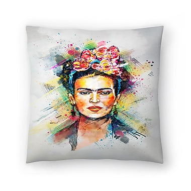 East Urban Home Tracie Andrews Frida Kahlo Throw Pillow; 16'' x 16''