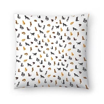 East Urban Home Elena O'Neill Little Cats Throw Pillow; 14'' x 14''