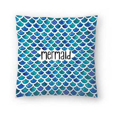 East Urban Home Elena O'Neill Mermaid Throw Pillow; 18'' x 18''