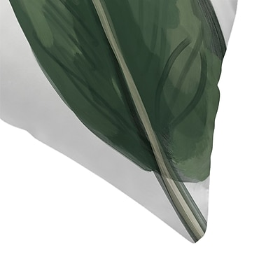 East Urban Home Jetty Printables Banana Leaf Painting Throw Pillow; 16'' x 16''