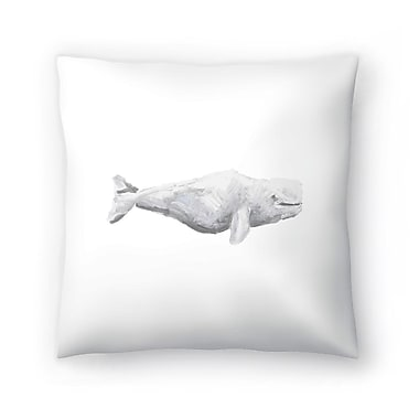 East Urban Home Jetty Printables Beluga Whale Painting Throw Pillow; 20'' x 20''