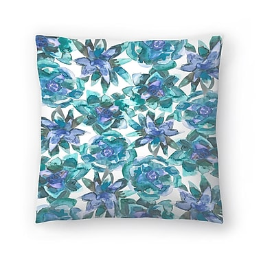 East Urban Home Jetty Printables Watercolor Succulent Pattern Throw Pillow; 20'' x 20''