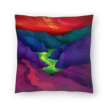 East Urban Home Joe Van Wetering Up Stream Throw Pillow; 18'' x 18''