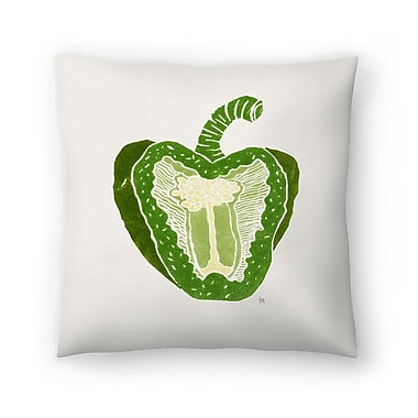 East Urban Home Tracie Andrews Green Pepper Throw Pillow; 20'' x 20''
