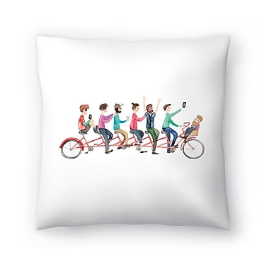 East Urban Home Elena O'Neill Bike Ride Throw Pillow; 20'' x 20''
