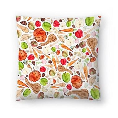 East Urban Home Elena O'Neill Fruit and Veg Throw Pillow; 14'' x 14''