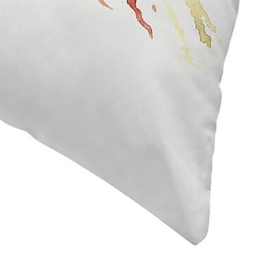 East Urban Home Suren Nersisyan American finch Songbird Throw Pillow; 16'' x 16''