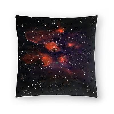 East Urban Home Florent Bodart Le Cosmos Throw Pillow; 18'' x 18''