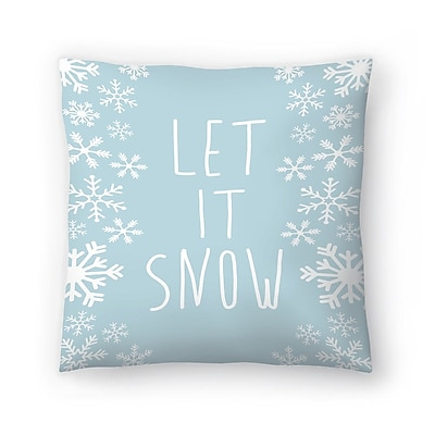 East Urban Home Jetty Printables Let It Snow Throw Pillow; 14'' x 14''