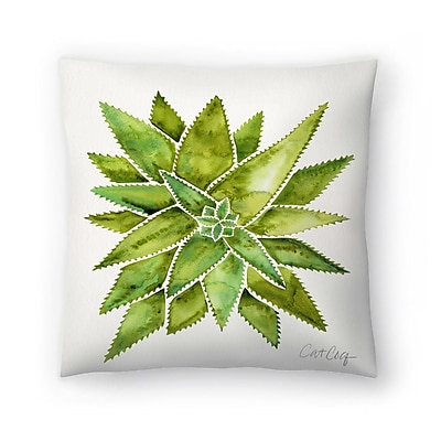 East Urban Home Cat Coquillette Aloevera Throw Pillow; 14'' x 14''