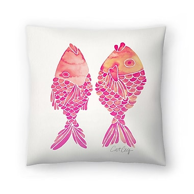 East Urban Home Cat Coquillette Indonesian Fish Throw Pillow; 20'' x 20''