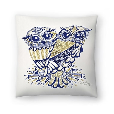 East Urban Home Cat Coquillette Inked Owls Throw Pillow; 20'' x 20''