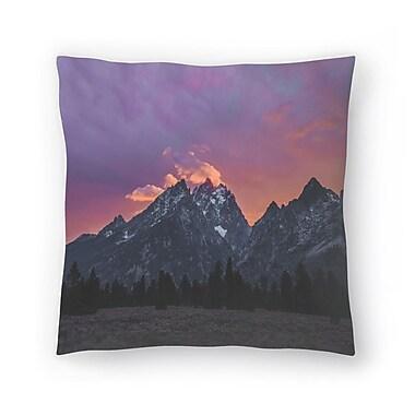 East Urban Home Luke Gram Grand Tetons Wyoming Iv Throw Pillow; 18'' x 18''