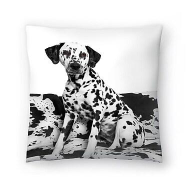 East Urban Home Maja Hrnjak Dalmatian Dog2 Throw Pillow; 16'' x 16''