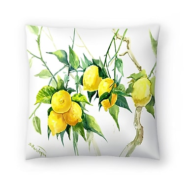 East Urban Home Suren Nersisyan Lemon Tree 1 Throw Pillow; 18'' x 18''