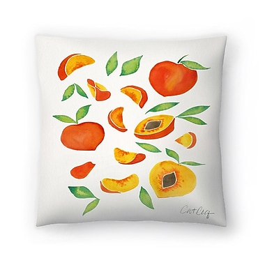 East Urban Home Cat Coquillette Peaches Throw Pillow; 16'' x 16''