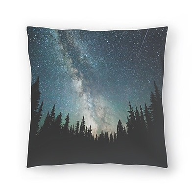 East Urban Home Luke Gram Stars Over the Forest lll Throw Pillow; 16'' x 16''