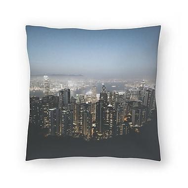 East Urban Home Luke Gram Victoria Peak Hong Kong Throw Pillow; 14'' x 14''