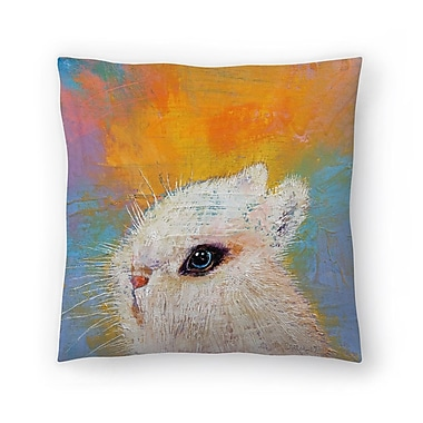 East Urban Home Michael Creese Rabbit Throw Pillow; 16'' x 16''