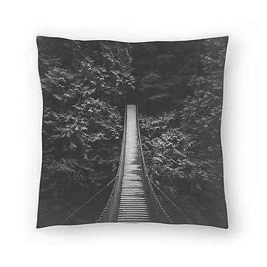 East Urban Home Luke Gram Lynn Valley Vancouver Throw Pillow; 16'' x 16''