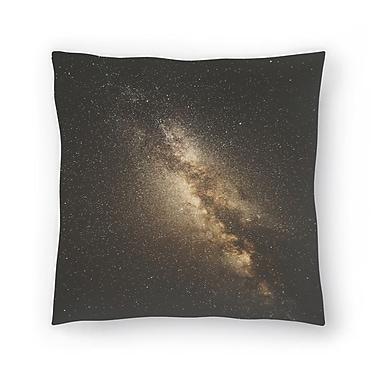 East Urban Home Luke Gram Milky Way Throw Pillow; 14'' x 14''