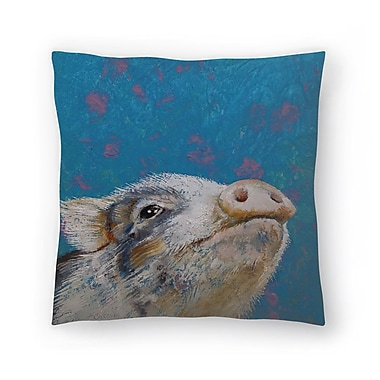 East Urban Home Michael Creese Baby Pig Throw Pillow; 20'' x 20''
