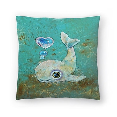 East Urban Home Michael Creese Baby Whale Throw Pillow; 18'' x 18''