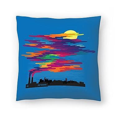 East Urban Home Joe Van Wetering Hidden in the Day Smog Throw Pillow; 16'' x 16''