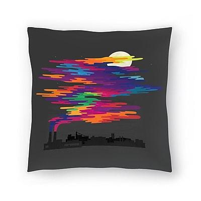 East Urban Home Joe Van Wetering Hidden in the Night Smog Throw Pillow; 16'' x 16''