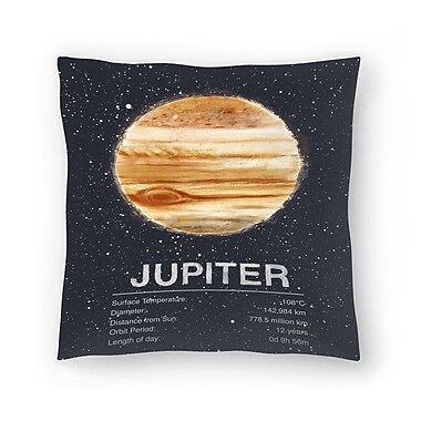 East Urban Home Tracie Andrews Jupiter Throw Pillow; 18'' x 18''