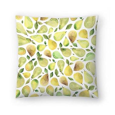 East Urban Home Elena O'Neill Pears Throw Pillow; 14'' x 14''