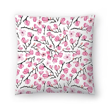 East Urban Home Elena O'Neill Cherry Blossom Throw Pillow; 18'' x 18''
