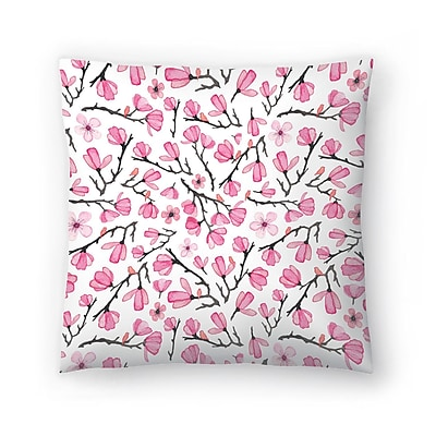 East Urban Home Elena O'Neill Cherry Blossom Throw Pillow; 16'' x 16''