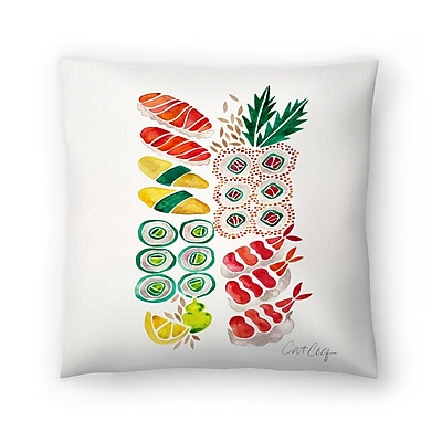 East Urban Home Cat Coquillette Sushi Throw Pillow; 20'' x 20''