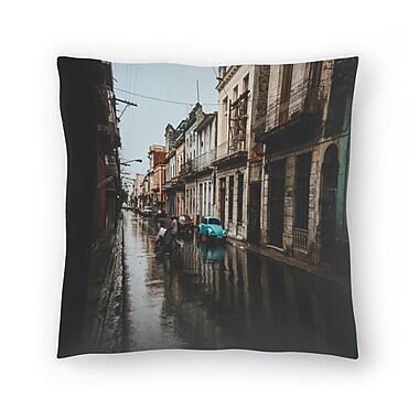 East Urban Home Luke Gram Havana Cuba Throw Pillow; 18'' x 18''