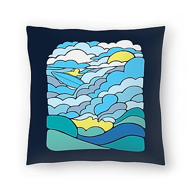 East Urban Home Joe Van Wetering Cloudsurfing Throw Pillow; 16'' x 16''