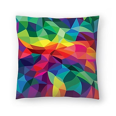 East Urban Home Joe Van Wetering Color Shards Throw Pillow; 20'' x 20''