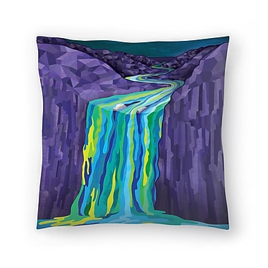 East Urban Home Joe Van Wetering The Great Waterfall Throw Pillow; 16'' x 16''