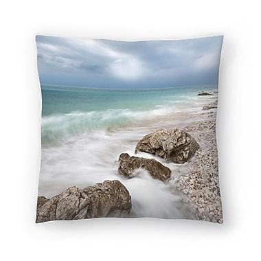 East Urban Home Maja Hrnjak Sea Throw Pillow; 16'' x 16''