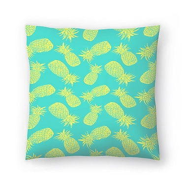 East Urban Home Tracie Andrews Pineapple and Lemon Throw Pillow; 16'' x 16''