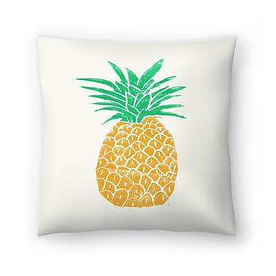 East Urban Home Tracie Andrews Pineapple Throw Pillow; 14'' x 14''