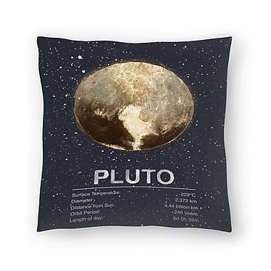 East Urban Home Tracie Andrews Pluto Throw Pillow; 20'' x 20''
