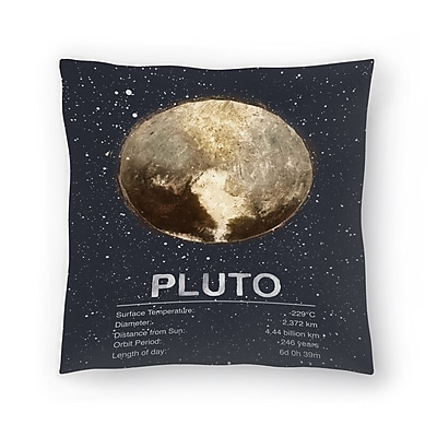 East Urban Home Tracie Andrews Pluto Throw Pillow; 18'' x 18''