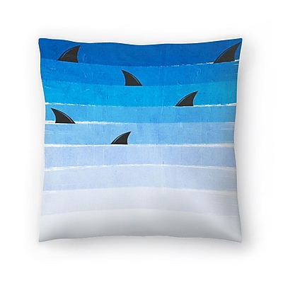 East Urban Home Charlotte Winter Sharks Throw Pillow; 20'' x 20''