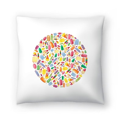 East Urban Home Elena O'Neill Ice Lolly Circle Throw Pillow; 14'' x 14''
