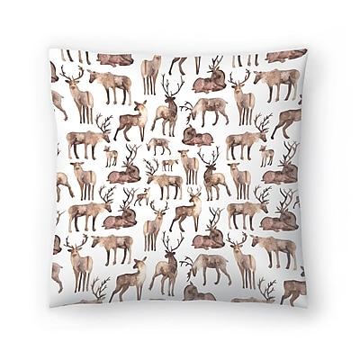 East Urban Home Elena O'Neill Deer Throw Pillow; 16'' x 16''