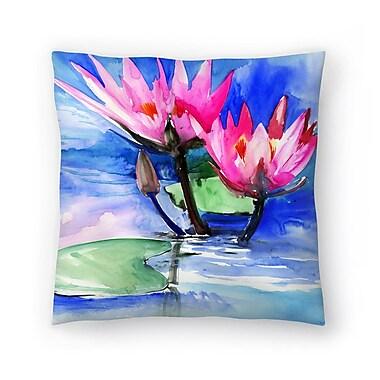 East Urban Home Suren Nersisyan Lotuses 3 Throw Pillow; 14'' x 14''
