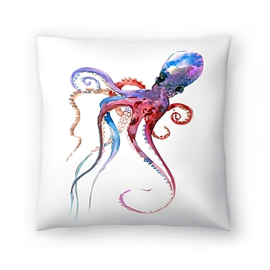 East Urban Home Suren Nersisyan Octopus 2 Throw Pillow; 16'' x 16''