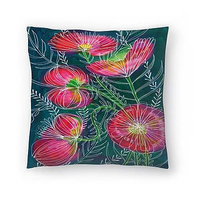 East Urban Home Paula Mills Always Flowers Throw Pillow; 14'' x 14''